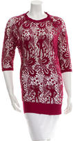 Isabel Marant Crocheted Short Sleeve Top