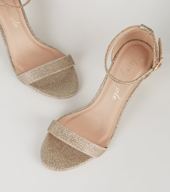 Thumbnail for your product : New Look Glitter 2 Part Stiletto Heels