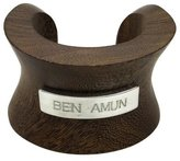 Ben-Amun Natura Wood Bangle with Logo Bar