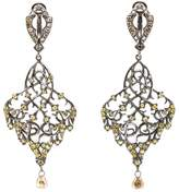 Loree Rodkin thorn leaf drop diamond earrings