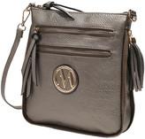 Mkf Collection By Mia K. MKF Collection by Mia K. Women's Handbags - Pewter Expandable Tassel-Accent Crossbody Bag