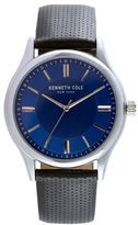Kenneth Cole Mens Leather and Stainless Steel Watch