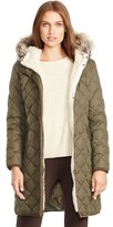 Lauren Ralph Lauren Faux Fur Trim Down & Feather Fill Parka (Regular & Petite)