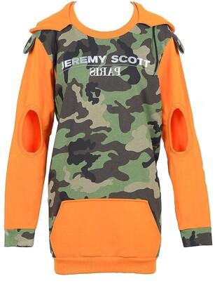 Jeremy Scott Camouflage and Orange Cotton Women's Sweatshirt