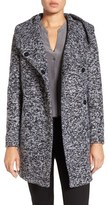 Kenneth Cole New York Women's Asymetrical Tweed Duffle Coat