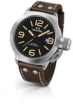 TW Steel Men's CS32 Stainless Steel Watch with Brown Leather Band