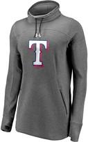 Under Armour Women's Texas Rangers Heathered Charcoal Team Mark Performance Tri-Blend Pullover Sweatshirt