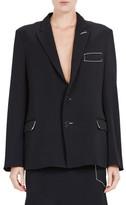 Bassike Crepe Tie Back Tailored Jacket