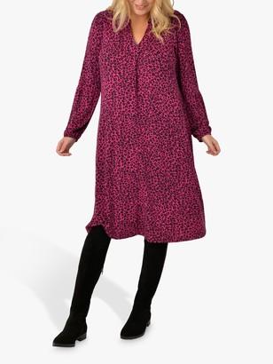 Live Unlimited Curve Animal Print Jersey Dress, Pink