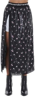 Alexander Wang Floral Side Slit Skirt