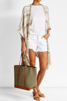 Vanessa Bruno Canvas and Leather Tote