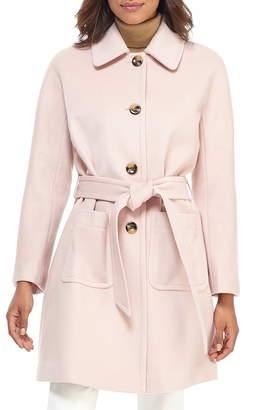 Gal Meets Glam Hadley Belted Wool Blend Coat