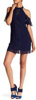 Amy Byer A. Byer Cold-Shoulder Shift Dress