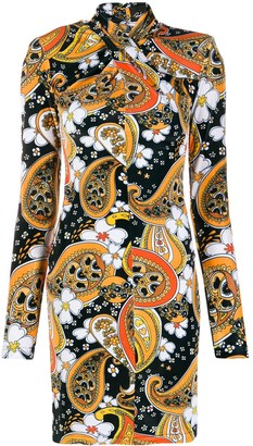 Richard Quinn Paisley Print Mini Dress