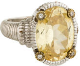 Judith Ripka Canary Crystal Cocktail Ring