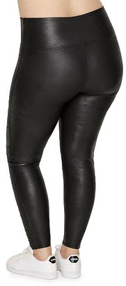 Spanx Plus Size Quilted Faux Leather Leggings