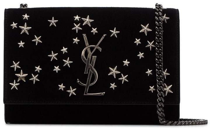 faac196bc6 black Kate star embellished suede shoulder bag