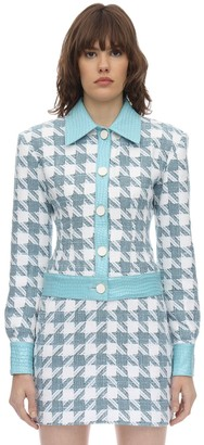 ROWEN ROSE Exclusive Checked Cotton Tweed Jacket
