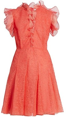 Giambattista Valli Ruffle Embroidered Tulle Dress