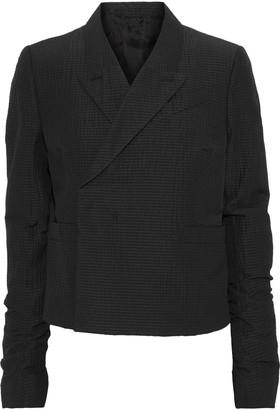 Rick Owens Cropped Textured Wool-blend Blazer