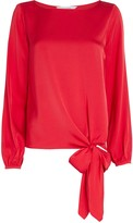 Intermix Kristy Knotted Silk Blouse