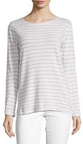 Current/Elliott Cotton Striped Boyfriend Tee