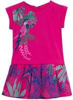 Catimini Raspberry Toucan Floral Dress - Girls