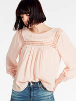Lucky Brand Geo Lace Insert Top