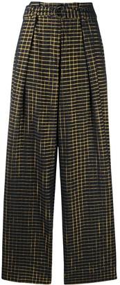 Ulla Johnson Rhodes check-print trousers