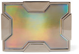 Lee Savage Space Holographic Leather And Gunmetal-Tone Clutch