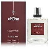 Guerlain Habit Rouge Cologne by for Men. Aftershave Lotion 3.4 Oz / 100 Ml.