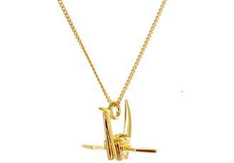 Origami Jewellery Mini Crane Necklace Gold