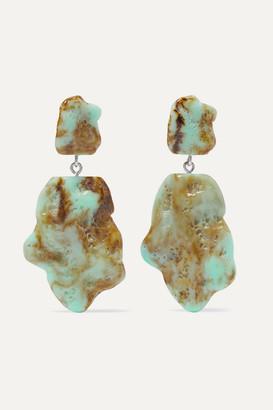 Valet Studio Molly Marbled Resin Earrings - Green