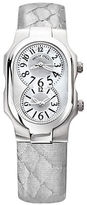 Philip Stein Teslar Ladies Silver Snakeskin Strap Watch