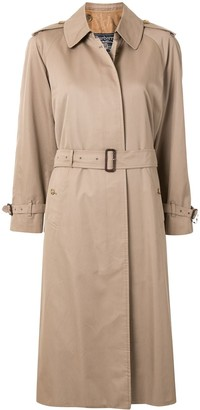 Burberry Pre Owned Concealed Fastening Trench Coat