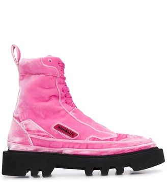 Rombaut ridged sole ankle boots