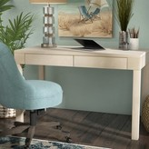 Beachcrest Home Joanna Solid Wood Desk Color: Ash Gray