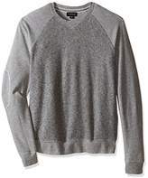 Velvet by Graham & Spencer Men's Klaus Marled Multi Elbow Patch Sweatshirt