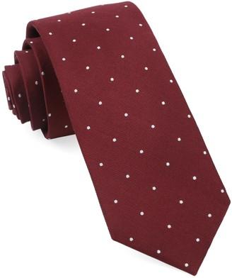Tie Bar Dotted Report Burgundy Tie
