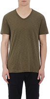Vince Men's Slub V-Neck T-Shirt-DARK GREEN