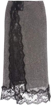 Christopher Kane Crystal Mesh Lace Midi Skirt
