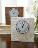 "Horchow 5"" Square Shell Desk Clock"