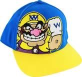 Bioworld Nintendo Super Mario Bros Wario Blue Adjustable Flatbill Baseball Cap Hat