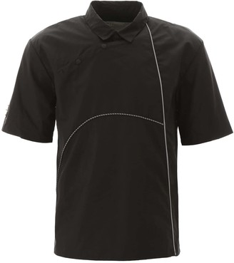 A-Cold-Wall* A COLD WALL NYLON POLO SHIRT WITH PIPING L Black Technical