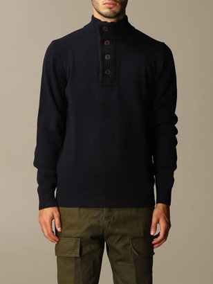 Barbour Sweater Wool Pullover With Buttons