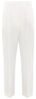 Alexander McQueen High-rise Wool Grain De Poudre Cigarette Trousers - Womens - Ivory