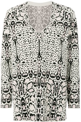 Alaia Pre Owned animal pattern knitted mini dress