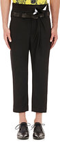 Haider Ackermann Men's Folded-Waist Trousers-Black