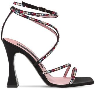 Les Petits Joueurs 100mm Camedlia Embellished Sandals