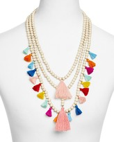 "Aqua Kaia Beaded Tassel Statement Necklace, 22"" - 100% Exclusive"